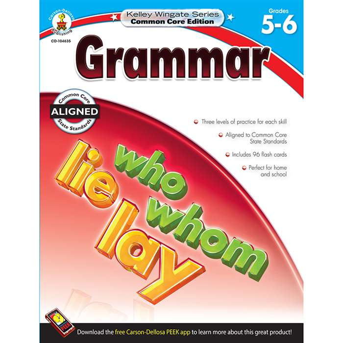 Shop Grammar Book Gr 5-6 - Cd-104635 By Carson Dellosa