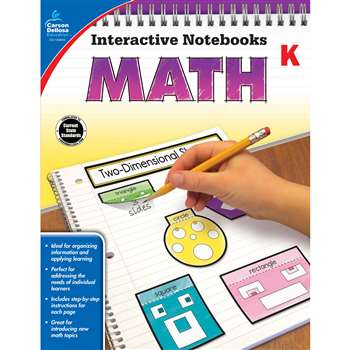 Interactive Notebooks Math Gr K, CD-104645