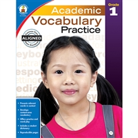 Academic Vocabulary Practice Gr 1, CD-104806