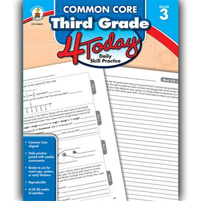 Third Grade 4 Today Common Core, CD-104820