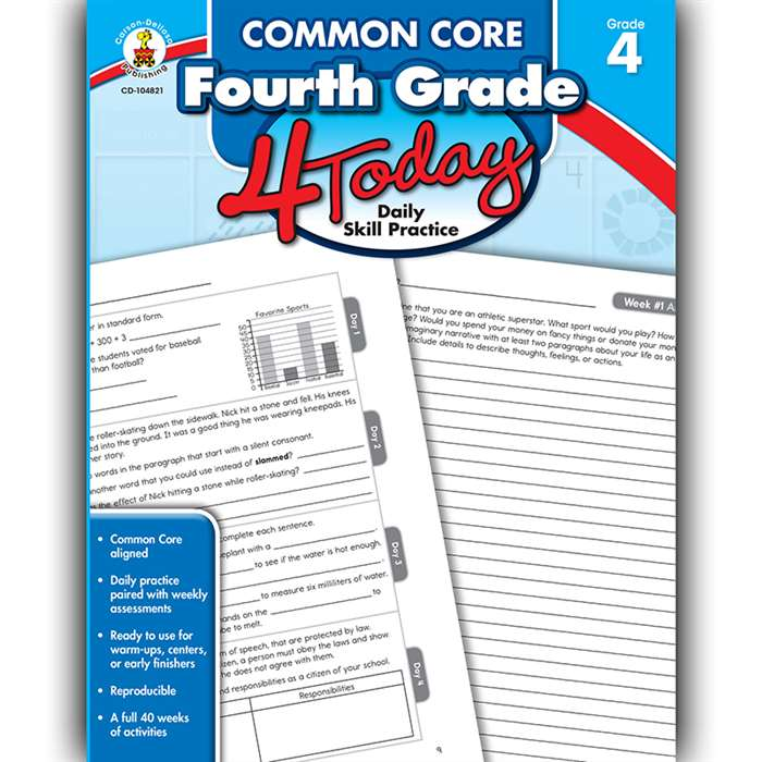 Fourth Grade 4 Today Common Core, CD-104821