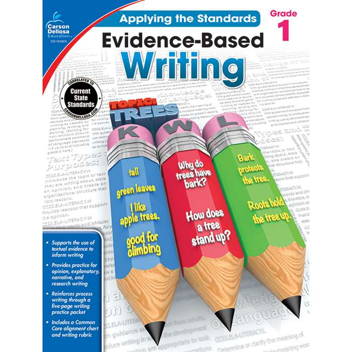Gr 1 Applying The Standards Evidence Based Writing, CD-104824