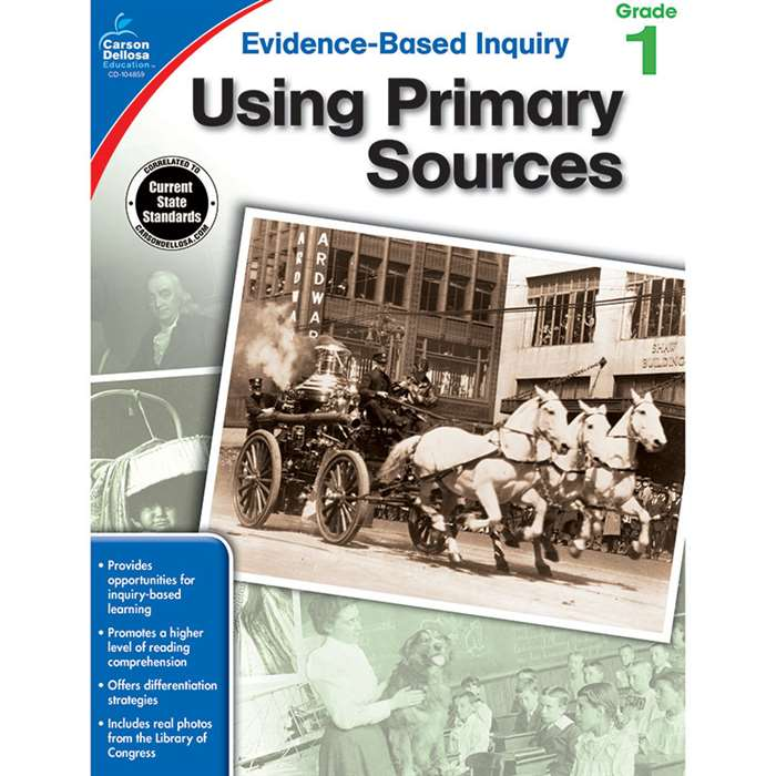 Using Primary Sources Gr 1, CD-104859