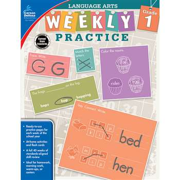 Weekly Practice Language Arts Gr 1, CD-104875