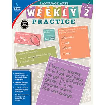 Weekly Practice Language Arts Gr 2, CD-104876