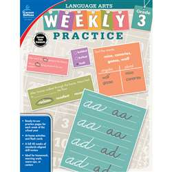 Weekly Practice Language Arts Gr 3, CD-104877