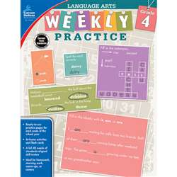 Weekly Practice Language Arts Gr 4, CD-104878