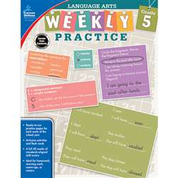 Weekly Practice Language Arts Gr 5, CD-104879