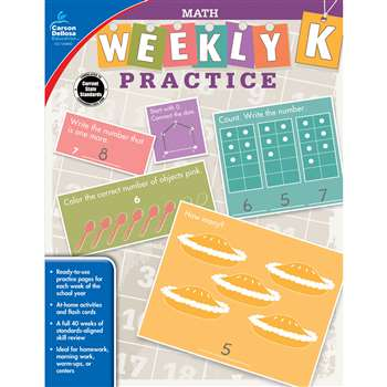 Weekly Practice Math Gr K, CD-104880