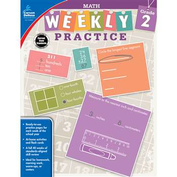 Weekly Practive Math Gr 2, CD-104882
