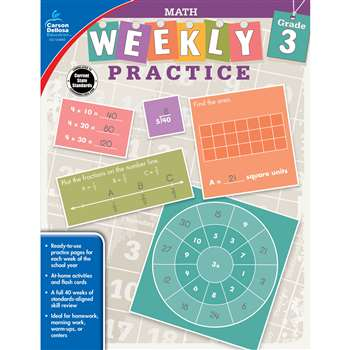Weekly Practive Math Gr 3, CD-104883
