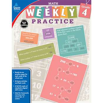 Weekly Practive Math Gr 4, CD-104884