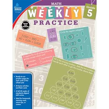 Weekly Practive Math Gr 5, CD-104885