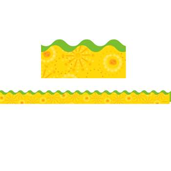 Lemon Lime Scalloped Border By Carson Dellosa