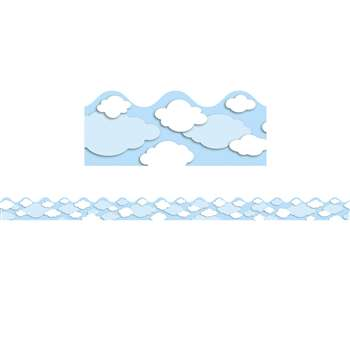 Clouds Scalloped Border By Carson Dellosa