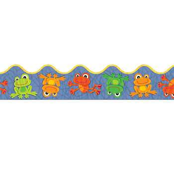 Funky Frogs Scalloped Border By Carson Dellosa
