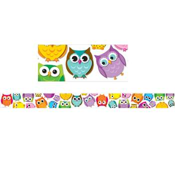 Colorful Owls Border By Carson Dellosa