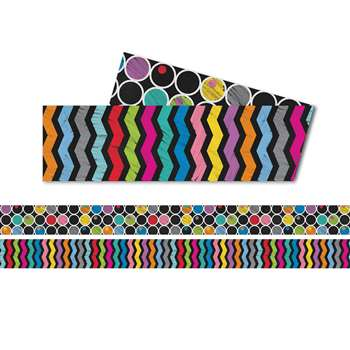 Colorful Chalkboard Straight Border Two Sided, CD-108197