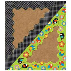 Boho Birds & Blooms Scalloped Borders, CD-108208