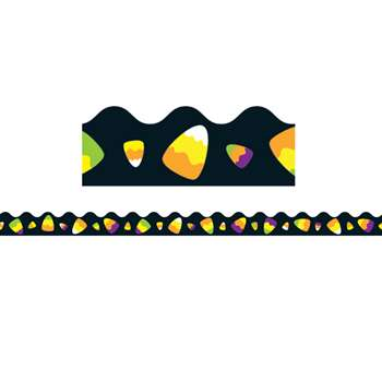 Candy Corn Scalloped Border, CD-108221