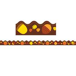 Acorns & Pumpkins Scalloped Border, CD-108223