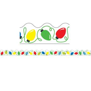 Holiday Lights Scalloped Border, CD-108226