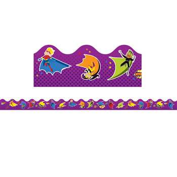 Super Power Super Kids Scalloped Borders, CD-108233