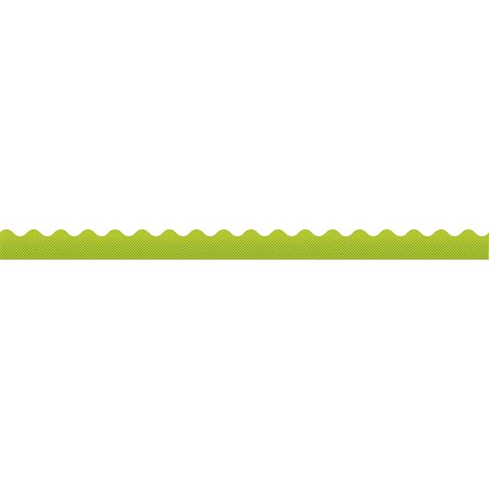 Super Power Laser Lime Scalloped Borders, CD-108236