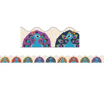 You-Nique Peacocks Scalloped Border, CD-108243