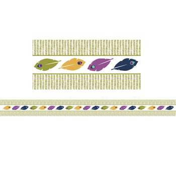 You-Nique Feather Stripe Straight Borders, CD-108250