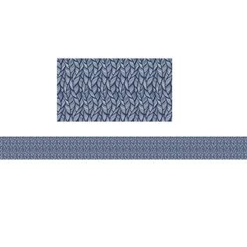 You-Nique Navy Feather Straight Borders, CD-108251