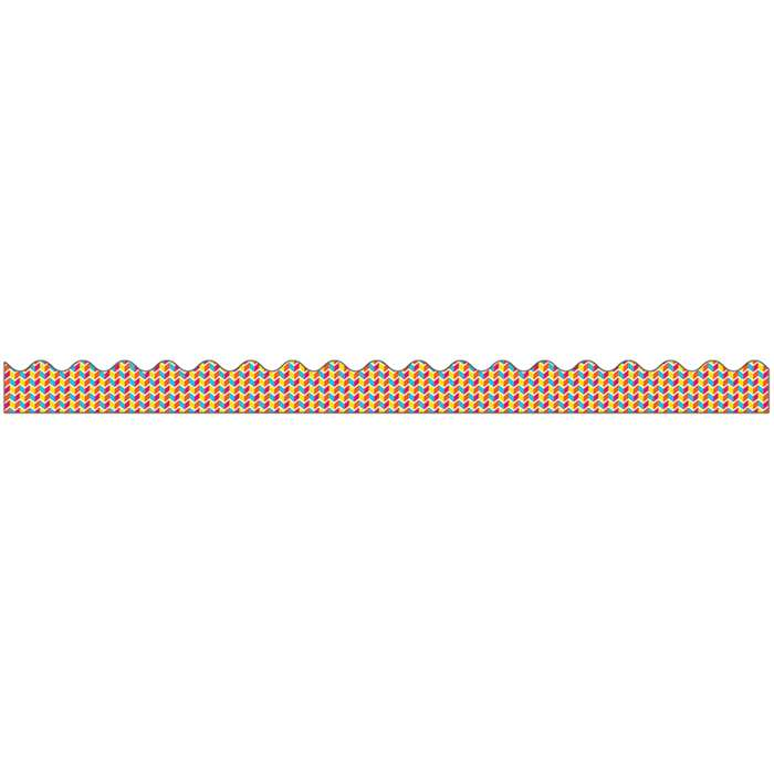 School Pop Geo Fun Scalloped Border, CD-108256