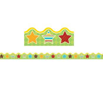Hipster Hip-Stars Scalloped Borders, CD-108265