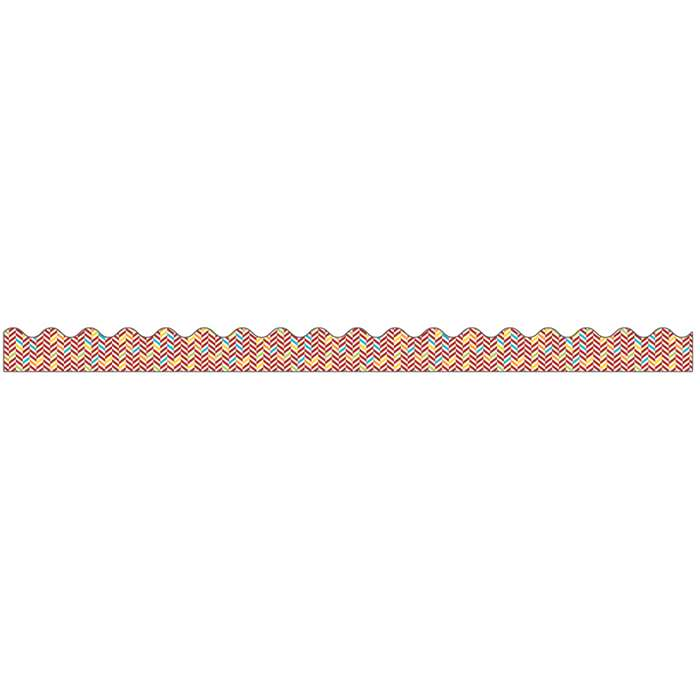 Hipster Herringbone Scalloped Borders, CD-108266