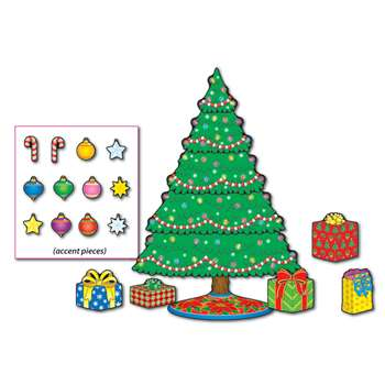 Christmas Tree Mini Bulletin Board Set By Carson Dellosa