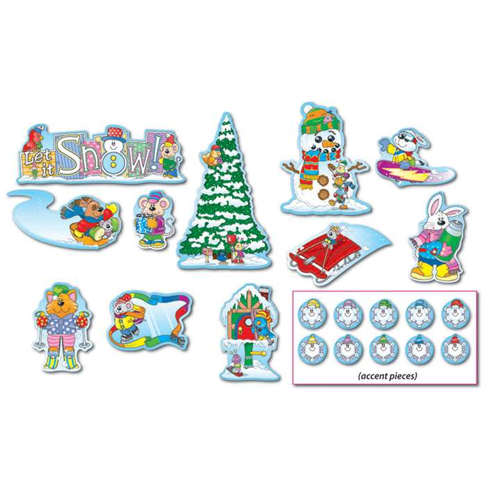 Winter Mini Bulletin Board Set By Carson Dellosa