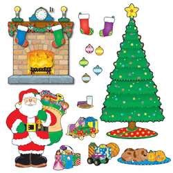 Christmas Scene Bulletin Board Set By Carson Dellosa
