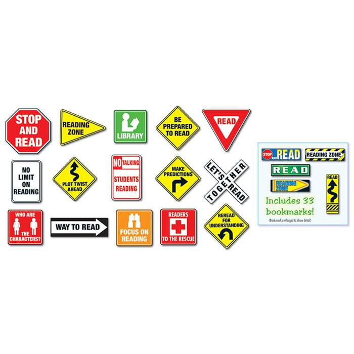 Reading Road Signs Bulletin Board Set By Carson Dellosa
