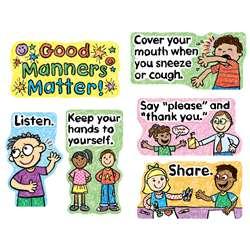 Good Manners Matter Mini Bulletin Board Set By Carson Dellosa