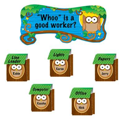 Owl Job Assignment Pop-Its Bulletin Board Set By Carson Dellosa