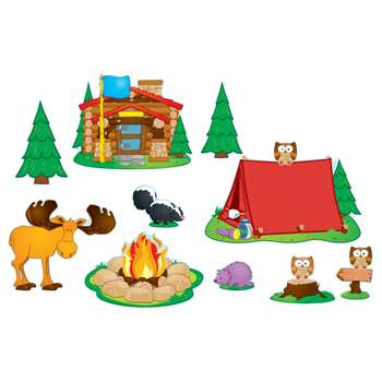 Camping Bulletin Board Set By Carson Dellosa
