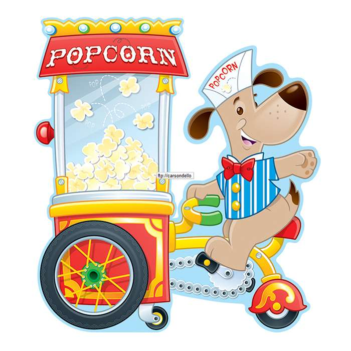 Poppin Popcorn Bulletin Board Set By Carson Dellosa