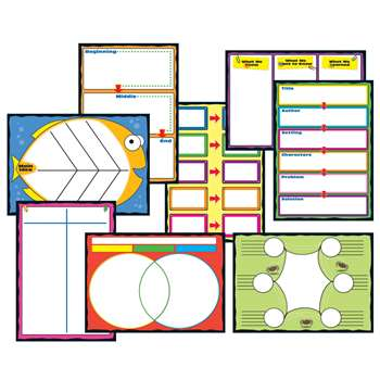Graphic Organizers Bulletin Board Set By Carson Dellosa