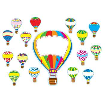 Hot Air Balloons Bulletin Board Set By Carson Dellosa