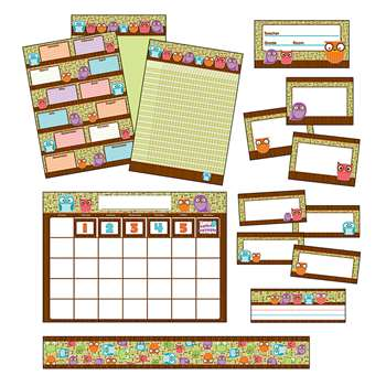 Owls Classroom Collection Bulletin Board Set By Carson Dellosa