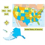 United States Map Quick Stick Bulletin Board Set, CD-110168