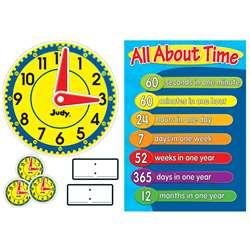 Judy Clock Bulletin Board Set By Carson Dellosa