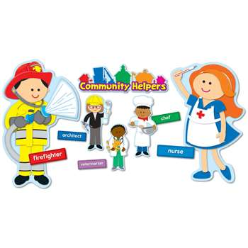 Community Helpers Bulletin Board Set By Carson Dellosa