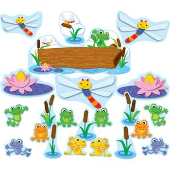 Funky Frogs Bulletin Board Set By Carson Dellosa