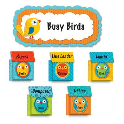 Boho Birds & Birdhouses Bulletin Board Set By Carson Dellosa